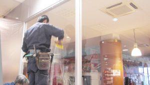 窓貼り施工